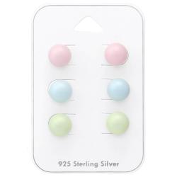Ohrstecker Set 925 Sterling Silber mit Swarovski Elements Perlen 8mm