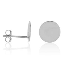 Ohrstecker 925 Sterling Silber mit Platte glänzend 10 mm