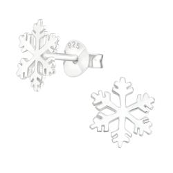 925 Sterling Silber Ohrstecker mit Schneeflocke