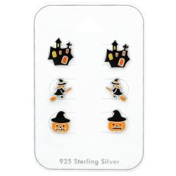 Ohrstecker Set 925 Sterling Silber Halloween