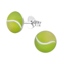 Ohrstecker 925 Sterling Silber mit Tennisball