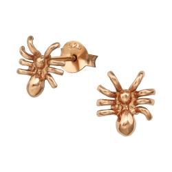 Ohrstecker 925 Sterling Silber rosévergoldet mit Spinne