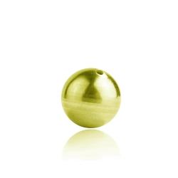 925 Sterling Silber Kugel vergoldet durchbohrt in verschiedenen Größen