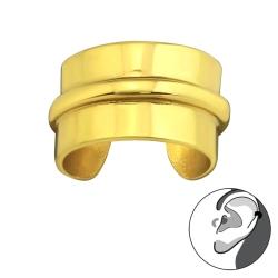 925 Sterling Silber Ear Cuff vergoldet Ohrklemme