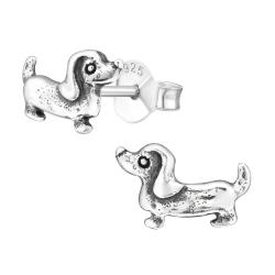 Ohrstecker 925 Sterling Silber mit Dackel