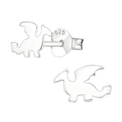 Ohrstecker 925 Sterling Silber mit Drachen