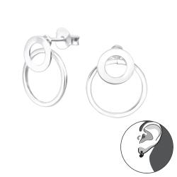 Ohrstecker 925 Sterling Silber Ear Jacket mit Ringen
