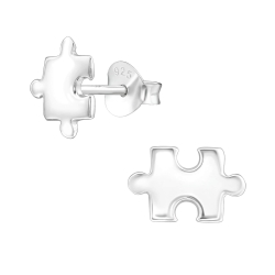 Ohrstecker 925 Sterling Silber mit Puzzle