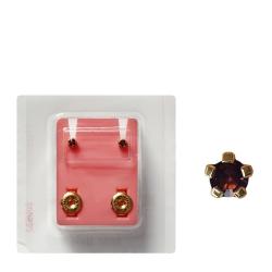 Erstohrstecker vergoldet Sterile Ohrstecker synthetischer Stein lila