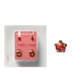 Erstohrstecker vergoldet Sterile Ohrstecker synthetischer Stein pink