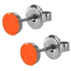 Chirurgenstahl Ohrstecker mit Emaille in orange Studex Sensitive