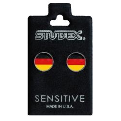 Chirurgenstahl Ohrstecker mit Fahne Deutschland Studex Sensitive