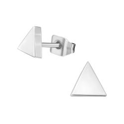 Titan Ohrstecker mit Dreieck