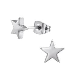 Titan Ohrstecker mit Stern